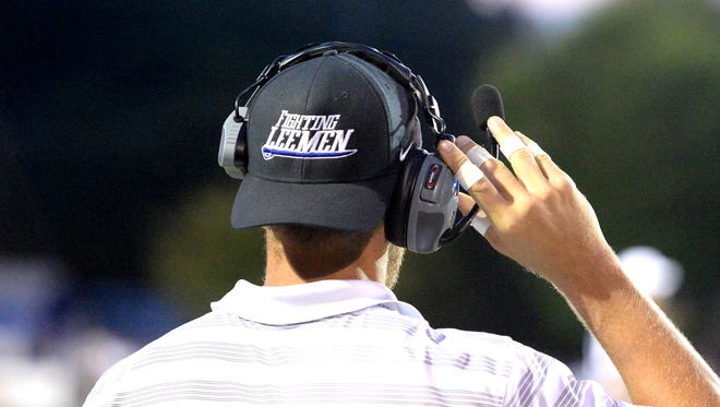 Gear, like hats worn by football coaches, are included in the estimated cost of $200,000 to replace athletic uniforms if Staunton City Schools votes to change the high school name.