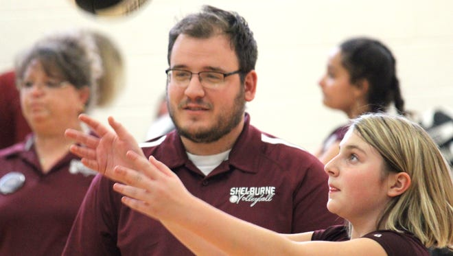 Jonathan Frame is stepping down as the Shelburne Middle School volleyball coach to take over as JV coach at Riverheads.