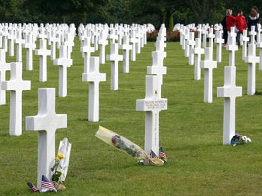 The U.S military cemetery in Colleville sur Mer, western France