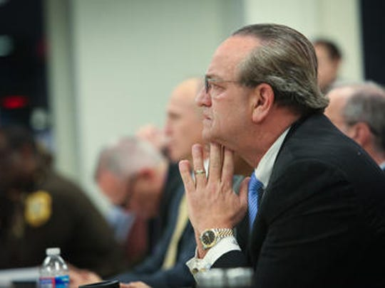 Then-New Castle County Executive Thomas Gordon is shown at an event on Jan. 14, 2014. He was sued by his former top aide, David Grimaldi, who alleged wrongful termination.
