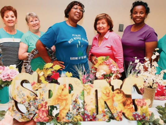 The NCO Wives Club will be hosting the Spring Bazaar, a spring fundraiser, for the club. Members include, from left, Earnestine Howard, Mary Carr, Pat Murray, Mary Jo Holifield, Beatrix Sereno, Veronica Clark and Sue Gonzales.