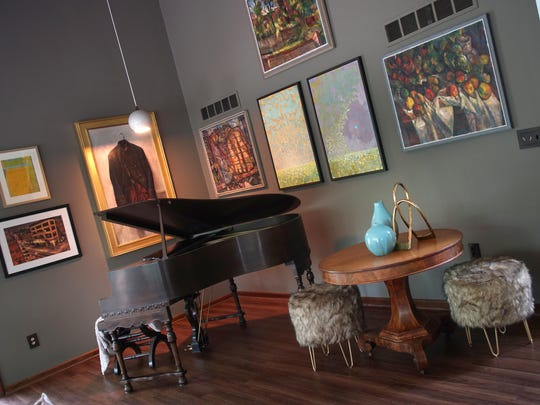 The Delaware Designer Showhouse features a lot of the owners' art collection, including three here by Ed Loper Sr.