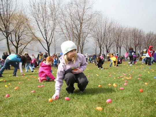 The annual Easter Egg Hunt will be held at Bethel Center