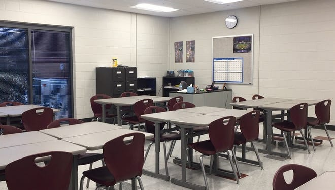 A new annex building provides additional classrooms for Franklin High School.