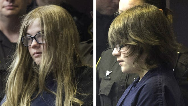 At 12 years old, Morgan Geyser, left, and Anissa Weier were charged as adults in 2014 with attempted first-degree intentional homicide in Waukesha County after nearly stabbing a classmate to death.
