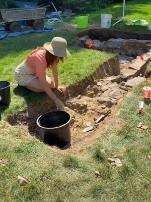 The Morrison family of Concord discovers an underground structure in their backyard in July.