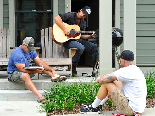 Kip Moore works with frequent co-writers Dan Couch,
