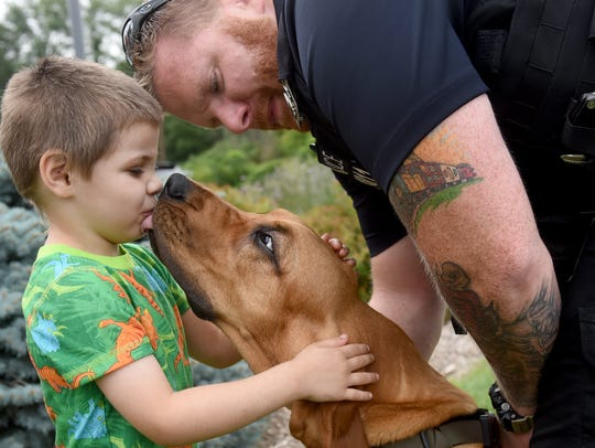 3-West York Police K-9 detective Prince and 4-year-old