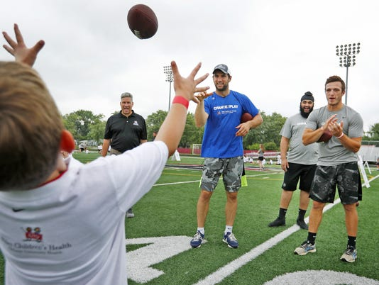 Andrew Luck joined kids learning about exercise and nutrition at Change the Luck camp at UIndy.