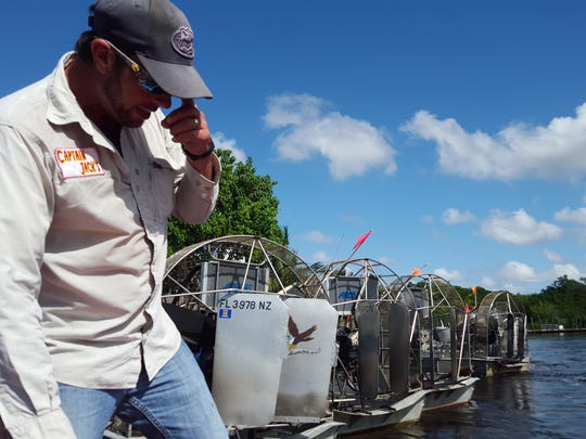 Capt. Kenny Smallwood of Captain Jack's Airboat Tours in Everglades City has been around airboats his entire life; an Everglades City native, he grew up around the water and has been giving tours for the past 10 years.