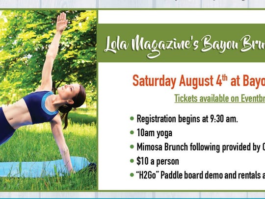 Bayou Brunch and Yoga is Saturday at Bayou Long Beard,