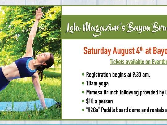 Bayou Brunch and Yoga is Saturday at Bayou Long Beard,