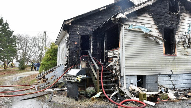 A home on the 3000 block of Vine Road in Buena Vista Township displaced one person Tuesday morning.