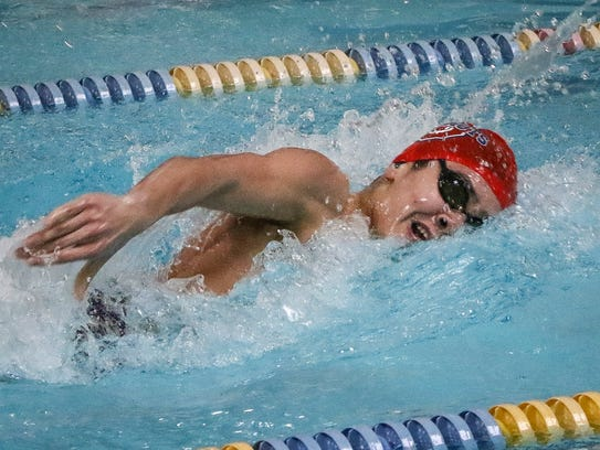 Oakland  swimmer Joey Cleemer posted a time of 1:58