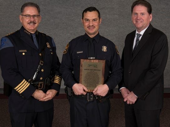 Farmington Hills Officer of the Year Larry Hernandez
