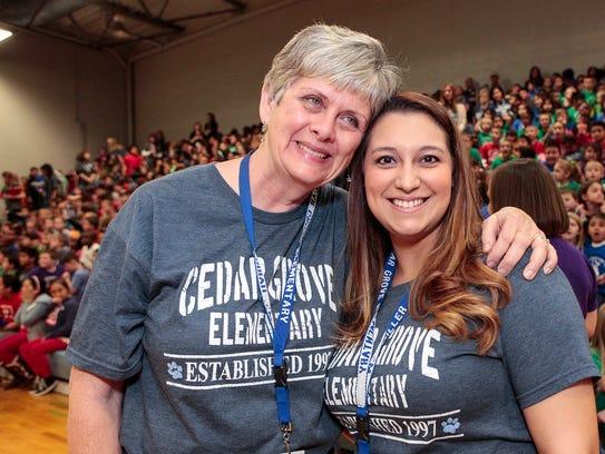 Cedar Grove Elementary first-grade teacher Patsy Harris