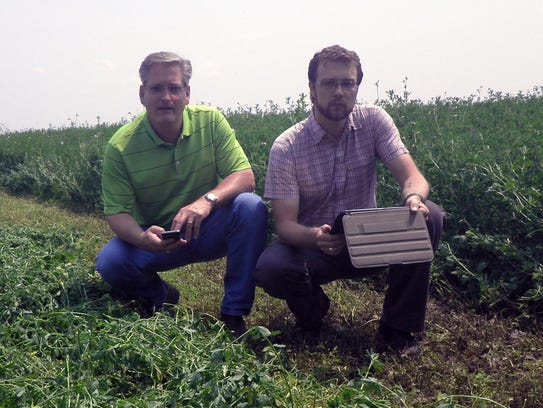 Waupaca County ag agent Greg Blonde and app designer/consultant