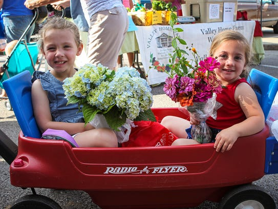 Flowers, baked goods and more were for sale at the