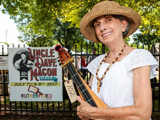 Judy Beier visited Uncle Dave Macon Days to participate
