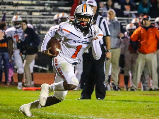 Blackman's Adonis Otey is among the top returning Nashville area defensive backs for the 2018 high school football season.