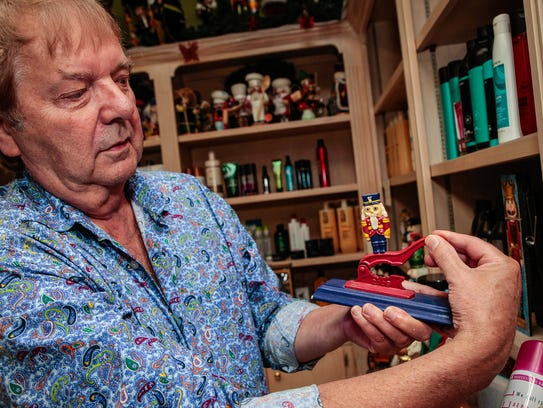 Hair salon owner Ernie Brown has been collecting handmade