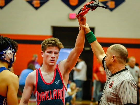 Blackman's Daniel Bradford recently won the Region 5-AAA title in the 138-pound division.