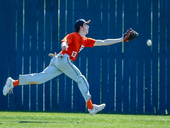 Dickson County outfielder Michael Cunningham can't