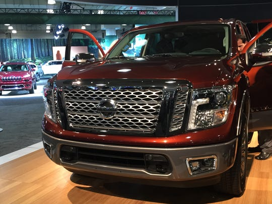 Nissan revealed its 2017 Titan full-size pickup at the New York International Auto Show on Thursday, March 24, 2016.