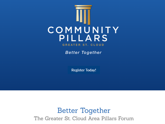 People can register for the free public event at http://live.greaterstcloud.com/community-pillars/.