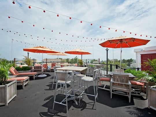 The rooftop bar at daddy O in Brant Beach was voted