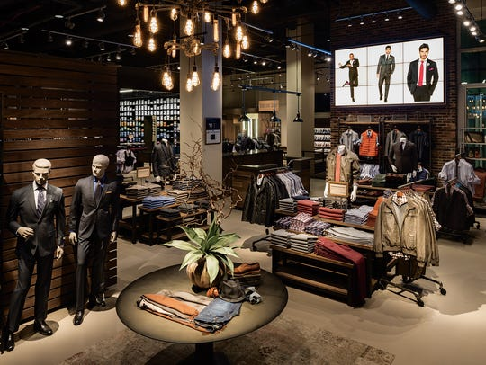 The Men's Wearhouse flagship store in Manhattan. Men's