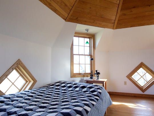 The bedroom at Jay McGinnis's Fawn Township home Tuesday,