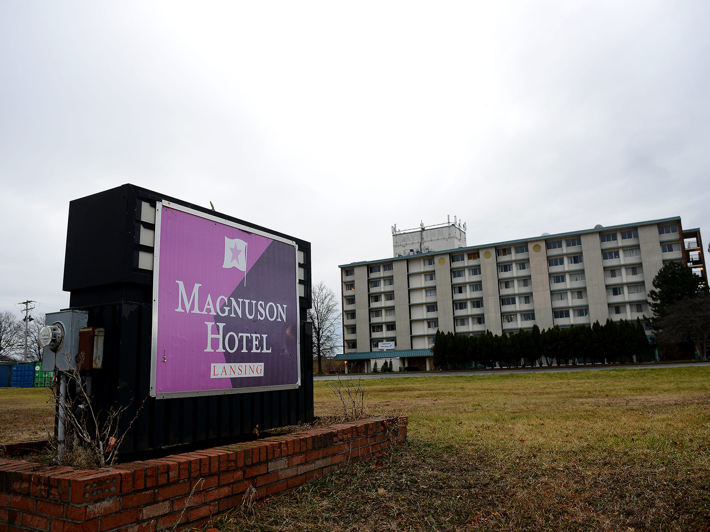 The Magnuson Hotel in South Lansing on Monday, Dec. 14. The hotel, where the nonprofit Homeless Angels is headquartered, is for sale.