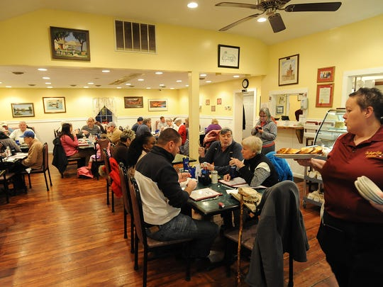 A busy night as customers come to the Southern Grill in Ellendale which serves a Muskrat Dinner every Wednesday night at the Restaurant on Rt. 16 to locals and visitors alike.