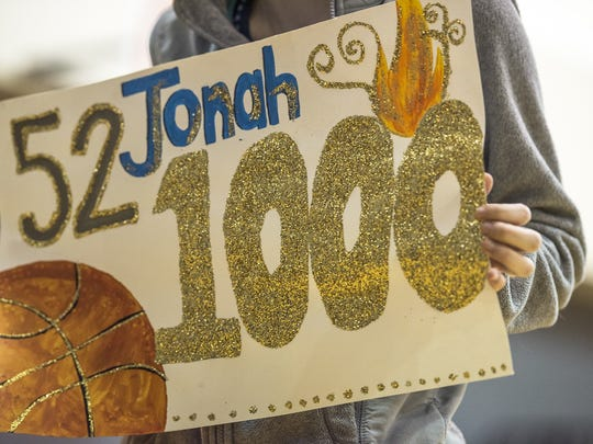 Shalom Christian's Jonah Stains was one of three area boys basketball players to achieve the 1,000 point milestone as a junior.
