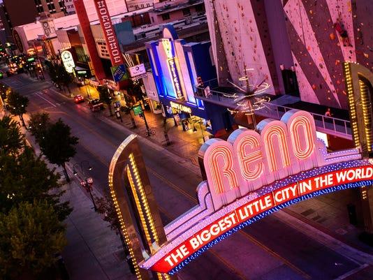 Reno Arch night time