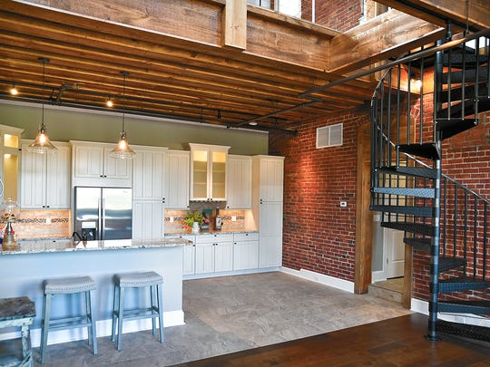 A former TG Hawks Crystal Co. manufacturing space has been converted into a two-bedroom loft apartment at the TG Hawkes Glass Co. Apartments on Market Street in Corning.