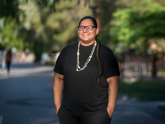 Mikah Carlos studies at Arizona State University and lives in the Salt River Pima-Maricopa Indian Community. She said a poll worker refused to let her use her tribal ID to vote in a recent election in Arizona.