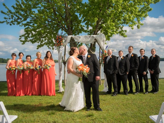 Photo from a wedding held in May at the vineyard at