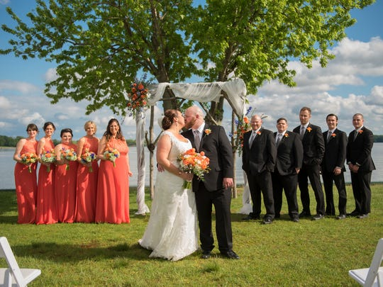 Photo from a wedding held in May at the vineyard at Elk Manor Winery in North East, Md.