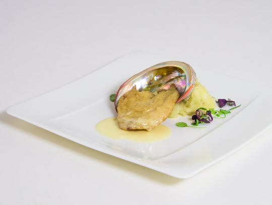 California red abalone with Meyer lemon beurre blanc