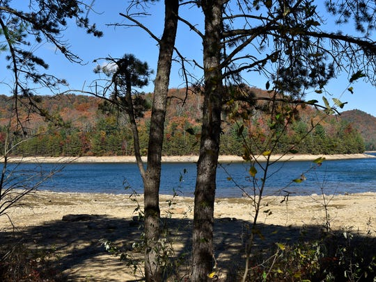 Water levels at Long Pine Reservoir are low. Franklin