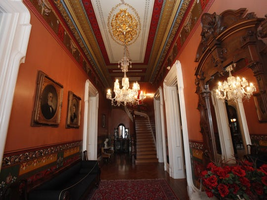 Front hallway inside Culbertson Mansion in New Albany in 2011.