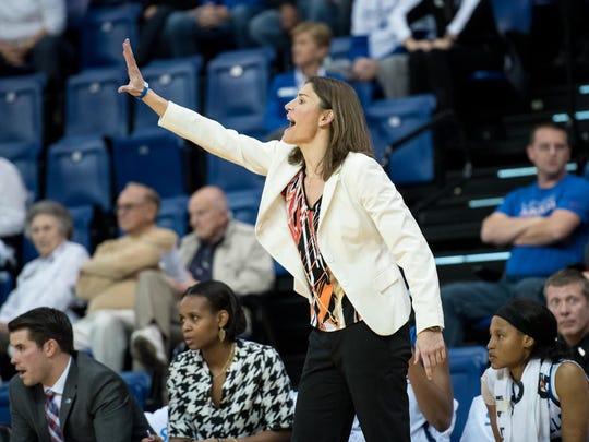 UNC Asheville women's basketball coach Brenda Kirkpatrick