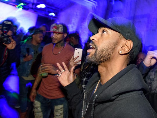 "Big Sean raps along to tracks from his new album during a small, intimate album listening party Sunday January 29, 2017 at the Museum of Contemporary Art Detroit in midtown. His new album titled ""I Decided"" comes out Friday."