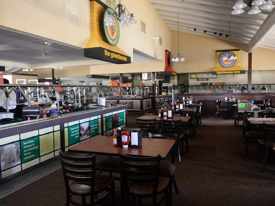 Inside Golden Corral on Wednesday, March 8, 2017 in
