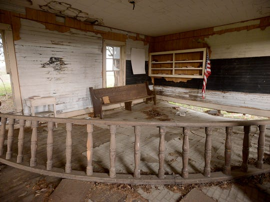 The Old Mt. Zion Negro School was a one-room school