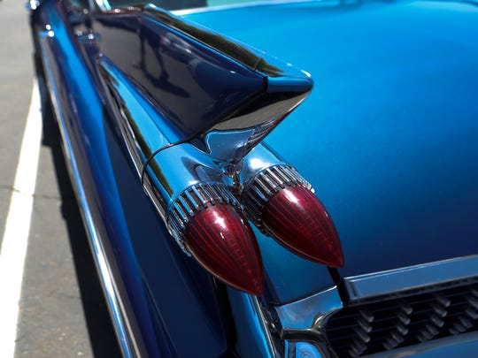 A 1959 Cadillac Fleetwood is on display Friday at Enterprise