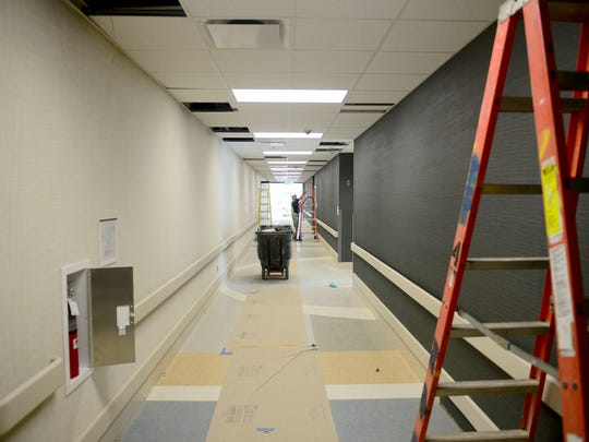 Construction is still on-going inside of Spire Rehabilitation Hospital. The rehab center is expected to be fully operational on July 1.
