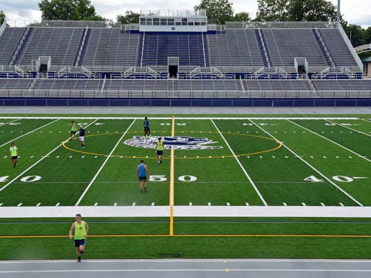 Chambersburg's Trojan Stadium underwent renovations ahead of the 2017-18 school year. It received a new turf field and track.